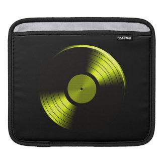 Retro Vinyl Record Album in Yellow iPad Sleeves