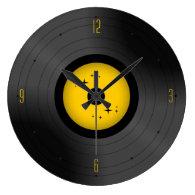 Retro Vinyl Record (Any Color) Wall   Clock