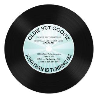 Retro Vinyl Record Birthday Party Invitation