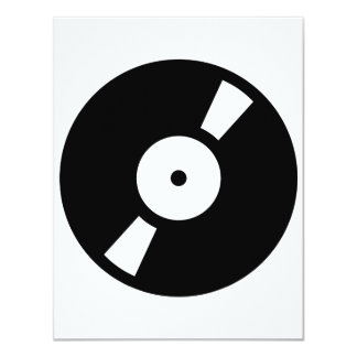 retro vinyl record card