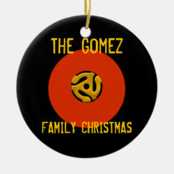 Retro Vinyl Record Christmas Ornament
