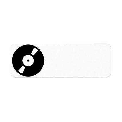 retro vinyl record custom return address labels