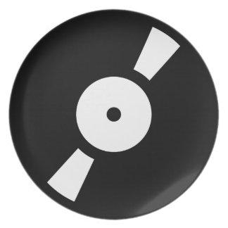 retro vinyl record dinner plates