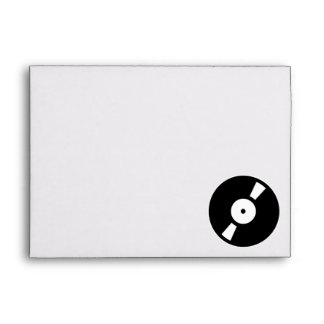 retro vinyl record envelope