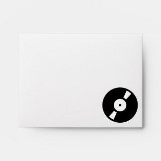 retro vinyl record envelope