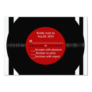 Retro Vinyl Record l Modern RSVP Personalized Announcement
