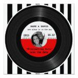 Retro Vinyl Record l Modern Save-the-Date Invitations