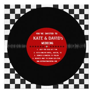 Retro Vinyl Record l Modern Wedding Invitation