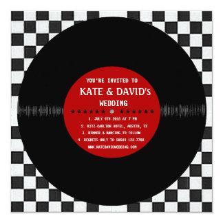 Retro Vinyl Record l Modern Wedding Invitation Custom Invites