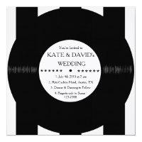 Retro Vinyl Record Modern Chic Wedding Invites