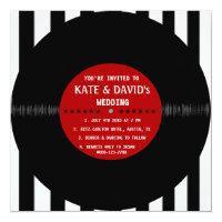 Retro Vinyl Record | Modern Wedding Invitation