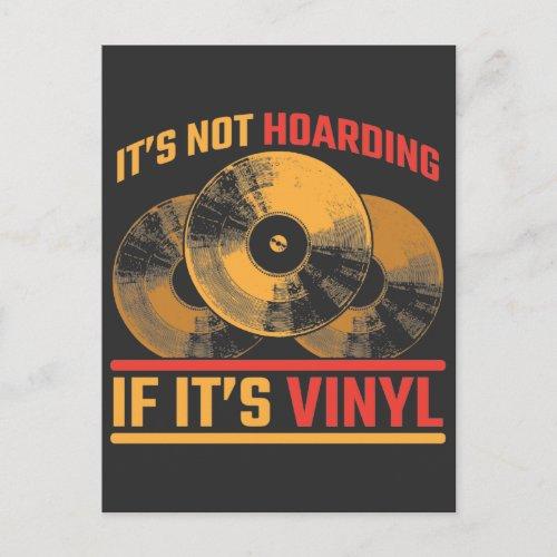 Retro Vinyl Record Music electro turntable DJ Postcard