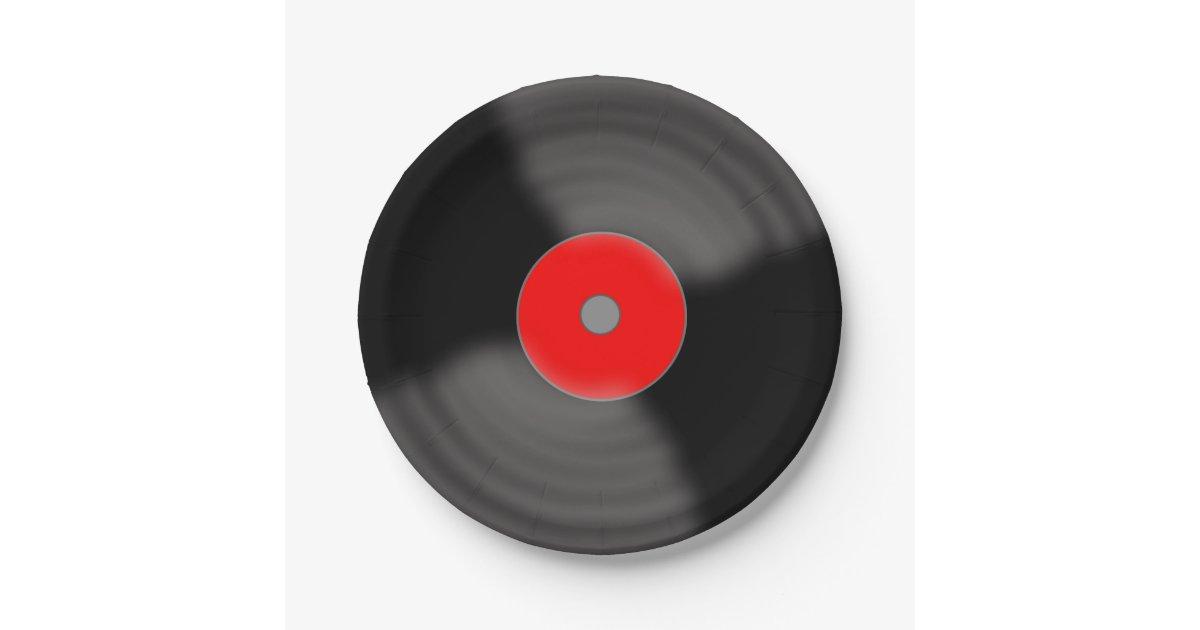 Retro Vinyl Record Party 1950 S Music Paper Plates