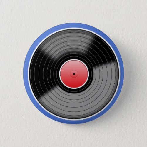 Retro Vinyl Record Pin Badge