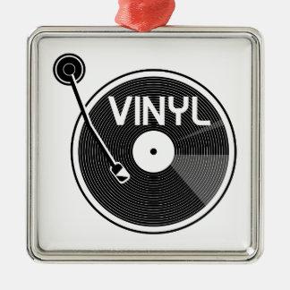 Retro Vinyl Record Turntable Metal Ornament