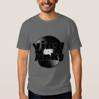 Retro Vinyl Record Vinyl Junky Tshirts