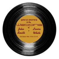 Retro Vinyl Wedding Invitation