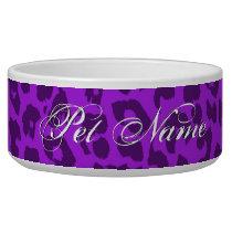 Retro violet animal print of leopard bowl