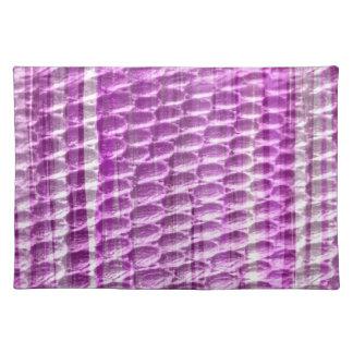 Retro violet graphic design cloth placemat