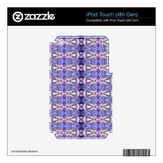 Retro Violet Grey Design. Geometric Pattern iPod Touch 4G Decals
