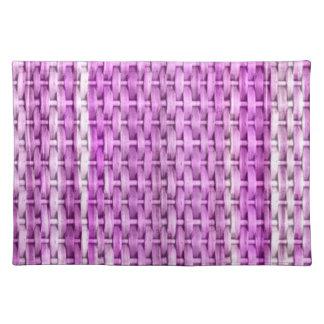 Retro violet wicker graphic design placemat