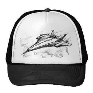 Retro vision-17-supersonic jet plane trucker hat