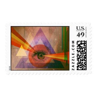 Retro Vision Postage Stamp