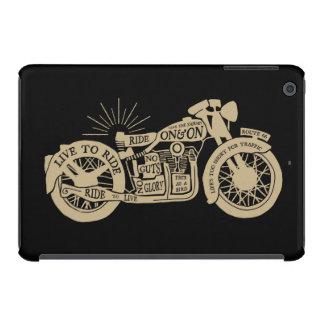 Retro viva para montar la motocicleta del vintage fundas de iPad mini