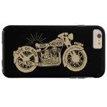 Retro viva para montar la motocicleta del vintage funda de iPhone 6 plus tough