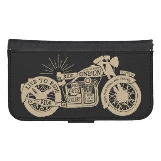 Retro viva para montar la motocicleta del vintage fundas cartera para teléfono