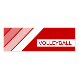retro VOLLEYBALL Double-Sided Mini Business Cards (Pack Of 20)