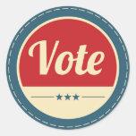 Retro Vote Election Sticker