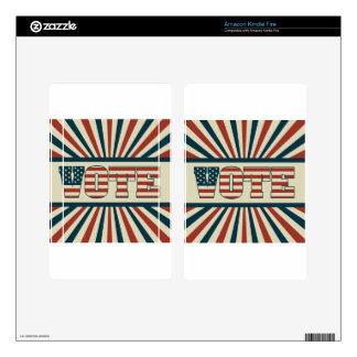 Retro voting gear kindle fire skin