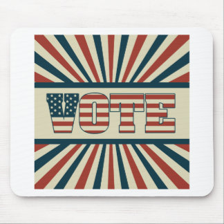 Retro voting gear mouse pad