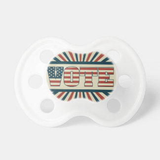 Retro voting gear pacifier