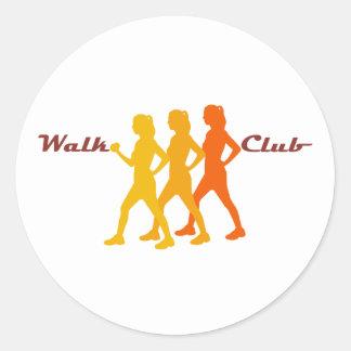Retro Walk Club Classic Round Sticker