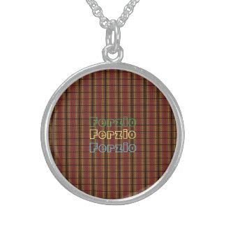 Retro Warm Circles Round Pendant Necklace