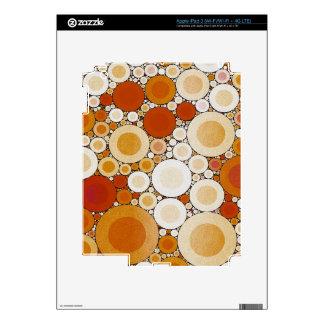 Retro Warm Pattern Decals For iPad 3