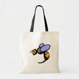 Retro Wasp Budget Tote Bag