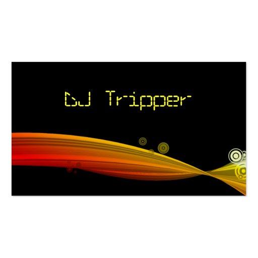 Retro Wave Business Card Black DJ Red Yellow