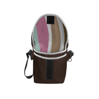 Retro Wavy Brown Blue Pink Design Courier Bags