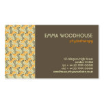 Retro!Weave :: Brown, Orange, Beige Double-Sided Standard Business Cards (Pack Of 100)