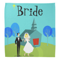 Retro Wedding Couple Bride Bandana