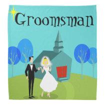 Retro Wedding Couple Groomsman Bandana