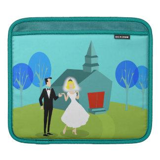 Retro Wedding Couple iPad Sleeve