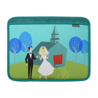 Retro Wedding Couple MacBook Air Sleeve