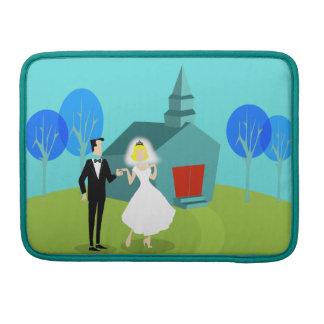 Retro Wedding Couple MacBook Pro Sleeve