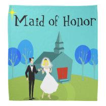 Retro Wedding Couple Maid of Honor Bandana