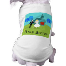 Retro Wedding Couple Ring Bearer Dog T-Shirt