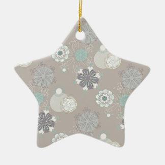 Retro Wedding Customizable Pattern Ceramic Ornament